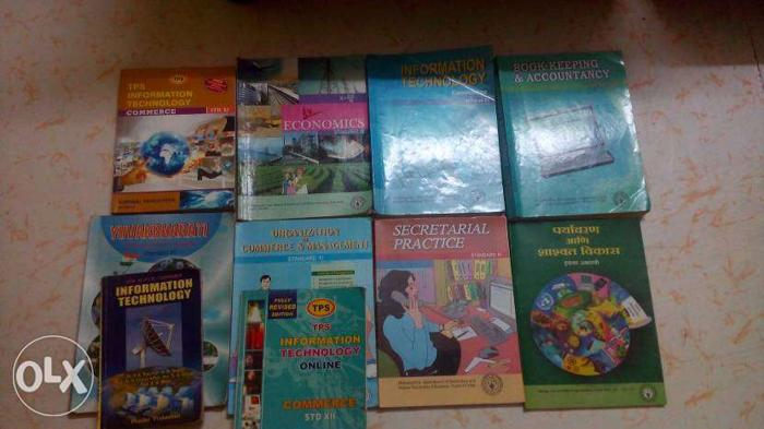 11th STD Commerce text books most of books are new