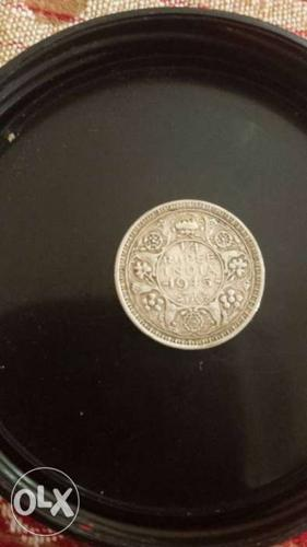1/4 rupee coin of 1945.