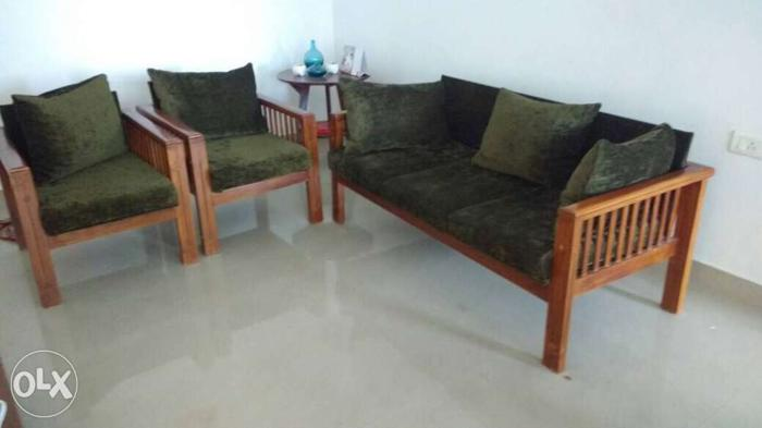 1 yr old used furniture for sale teak wood 3 1 1 sofa for sale in rh aluva indialisted com used teak wood sofa set for sale in chennai