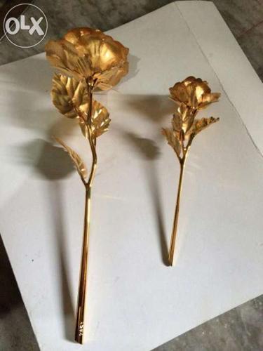 24kt gold foil rose