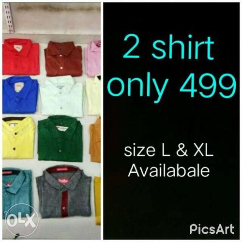 2 shirt only 499 size only L & XL Available