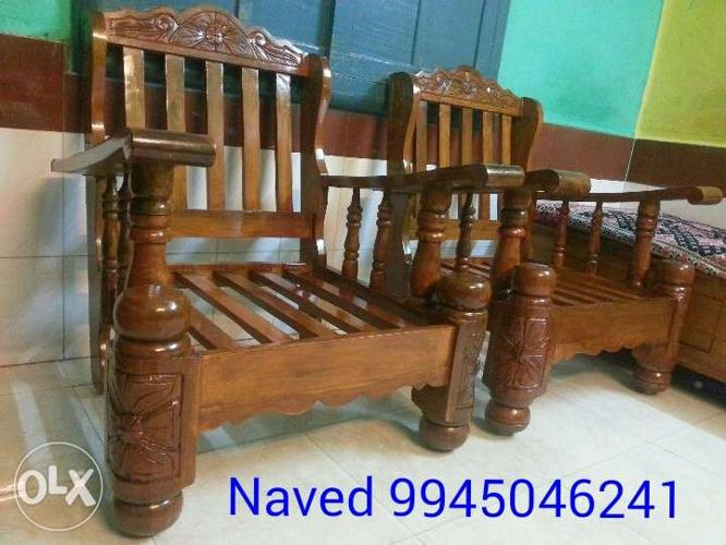 3 1 1 Mysore Teakwood Wooden Sofa Set With For Sale In