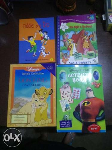 4 books,DISNEY activity book & story book,Pooh
