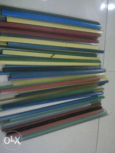 50 Plastic Side Clips. File clips. Assorted colour, A4
