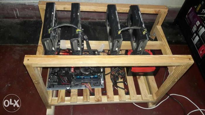 5x Sapphire AMD Rx480 8gb Nitro Mining Rig only 4