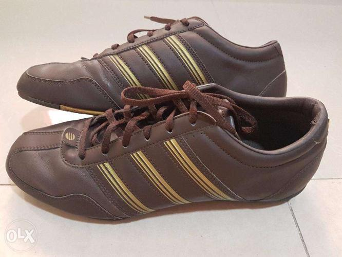 Adidas Brown and Gold Shoes