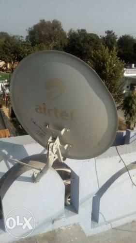 Airtel HD DTH, with antenna , set top box, remote  for Sale