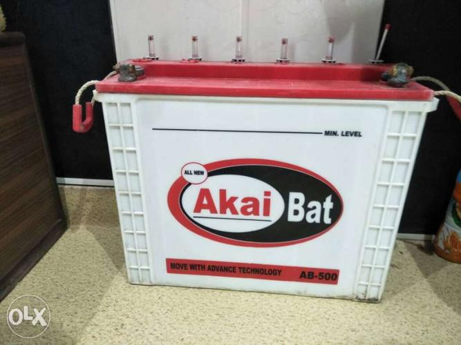 Akai tubular battery for invertor ok condition