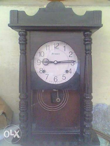 Antique old england wood wall clock ( sumeet