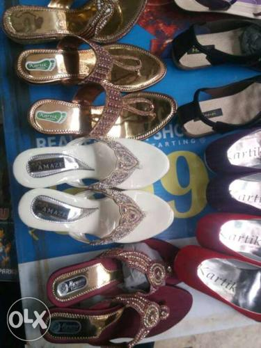 Assorted Colored Pair Of Sandals