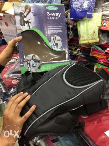 Baby's Black 3-way Carrier With Box