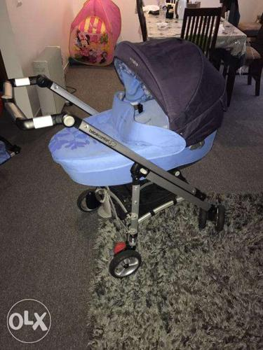 Baby trolley with separate cradle