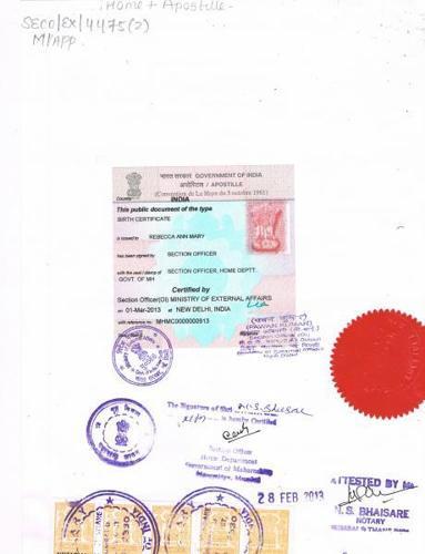 Birth certificate apostille service in Surat,Rajkot,Ahmedabad in