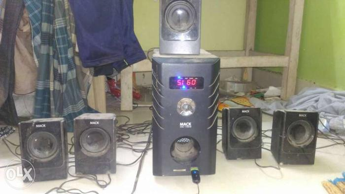 Black 5.1 Channel Speaker