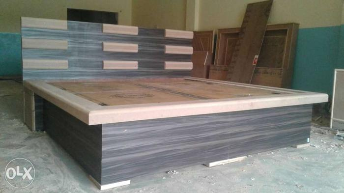 Black And Brown Wooden Bed Frame