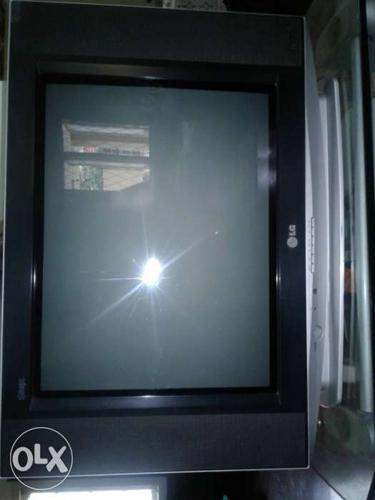 Black And Gray LG Widescreen CRT Television