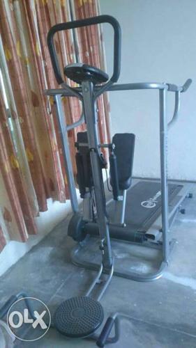 Black And Grey Treadmill