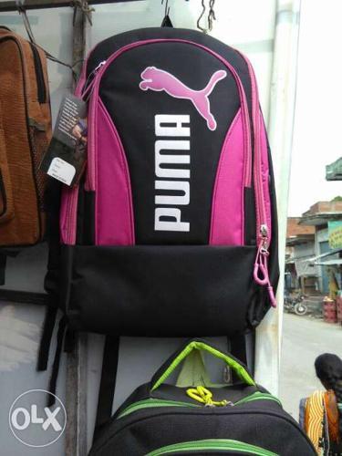 Black And Pink Puma Backpack