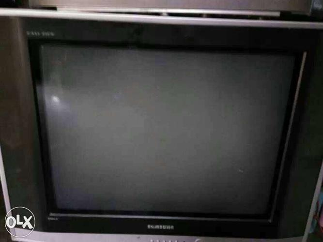 Black And Silver Samsung CRT TV