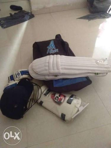 Black, Blue And White SG Cricket Shin Guard