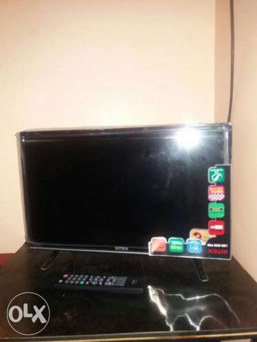 Black Intex Flat Screen TV