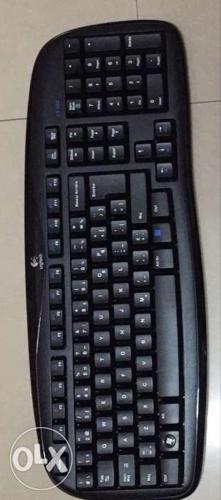 Black Logitech Wireless Keyboard