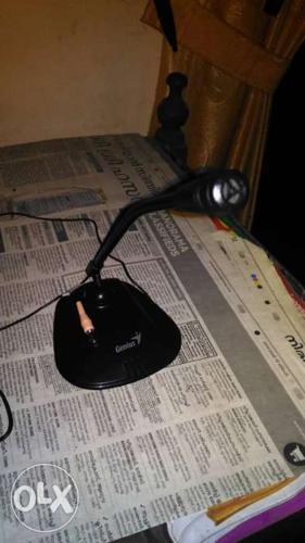 Black mini-microphone