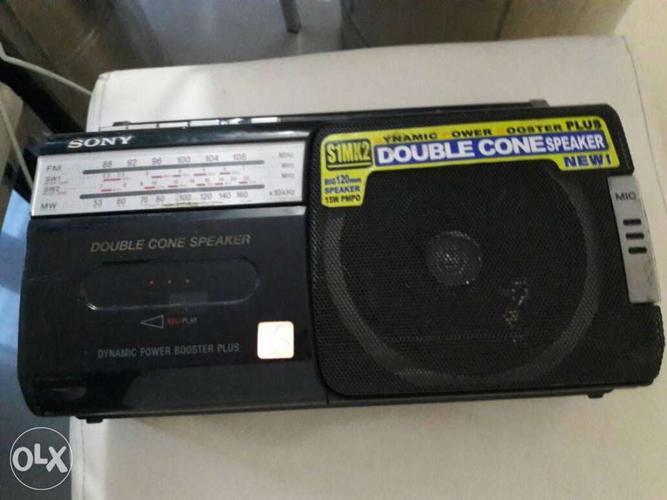 Black Sony Double Cone Speaker