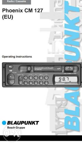 Blaupunkt Car stereo. AM and FM channels. 20