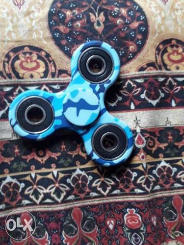 Blue And Teal Camouflage Hand Spinner