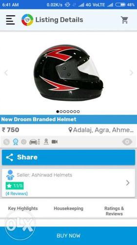 Brand new unused droom helmet isi certified