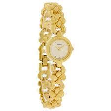 branded times watch in golden colour ladies watch for
