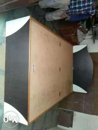 Brown, Black And White Lift Up Storage Bed