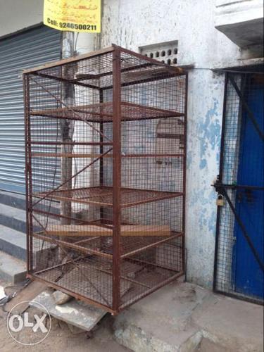 Brown Metal 5-layered Metal Cage
