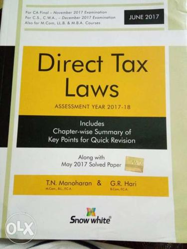 CA Final Direct tax law book by TN.Manoharan Most