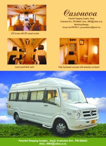 Luxury Caravan Hire In India Motorhome On Rent Camper Van Rental Service In