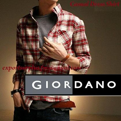 CASUAL SHIRTS EXPORT QUALITY SURPLUS GIODANO DRESS