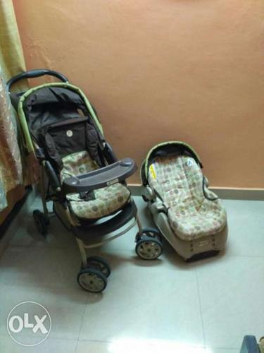 Child travel system. Includes stroller, carry cot