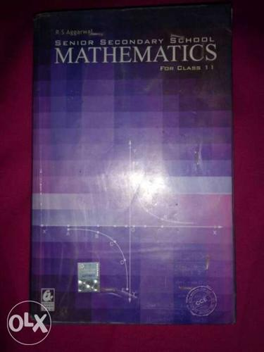Class 11 RS agarwal maths book in very good for Sale in