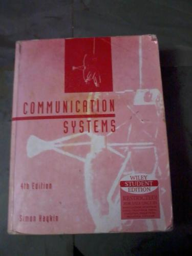 Communication systems by simon haykin for Sale in Chennai