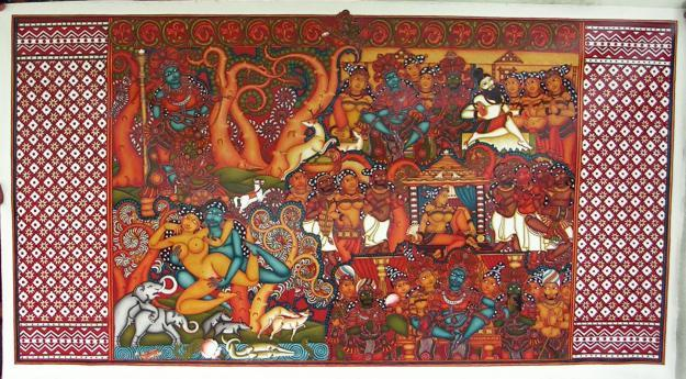Concept mural paintings for sale in kochi kerala for Ananthasayanam mural painting