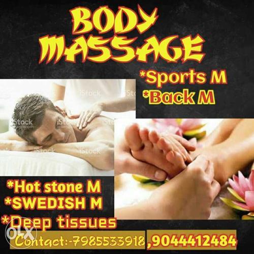 Deep tissue massage home serive gym service hotel