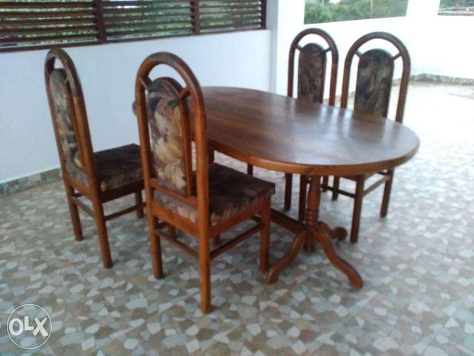 Dining Table With Pure Teak Wood For Sale In Visakhapatnam