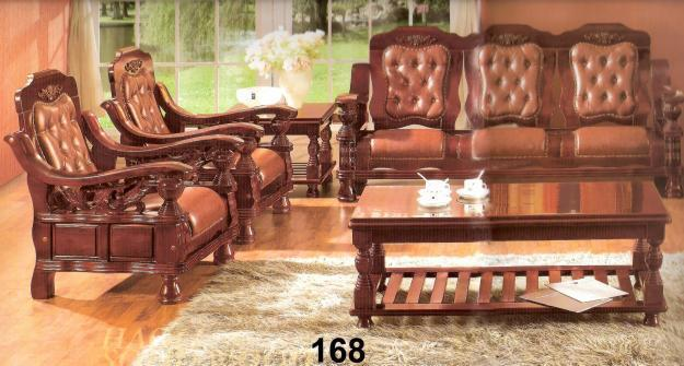 Double bed and six seater sofa set with central table for for Double bed and sofa set