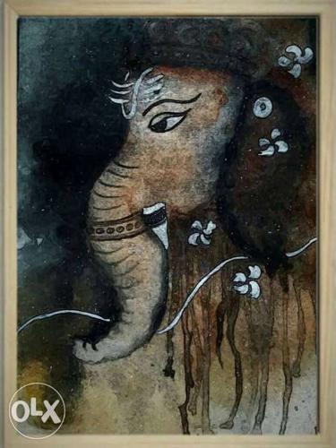 Elephant Head Paiting