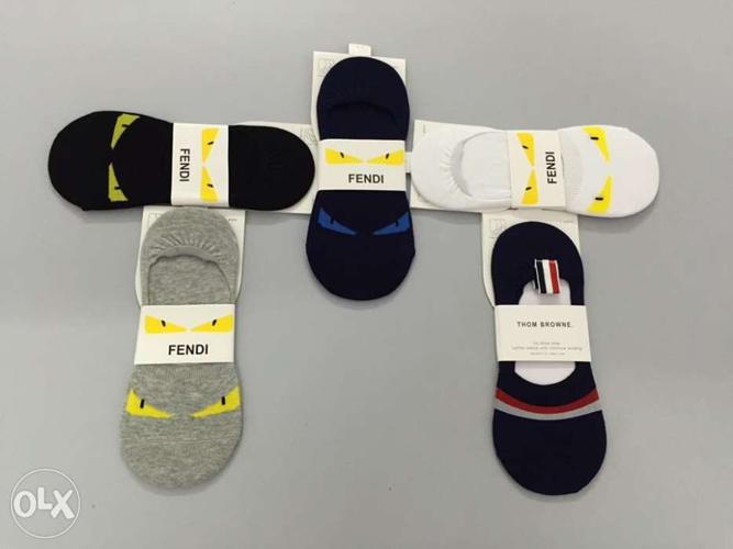 *FENDI*imported branded loafer socks!!! 5 colours
