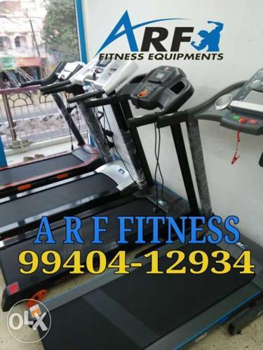 Four Black A R F Fitness Treadmills Contact 99407/60606