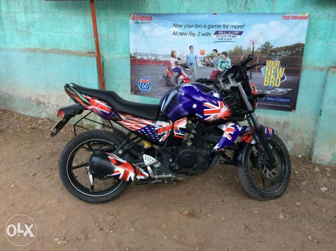 Fz s bike american flag lamination sticker  for Sale in