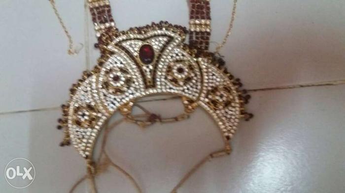 Gold Diamond Bib Necklace