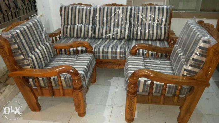 Gorgeous Look Sofa Set Assam Teak Wood New With For Sale In
